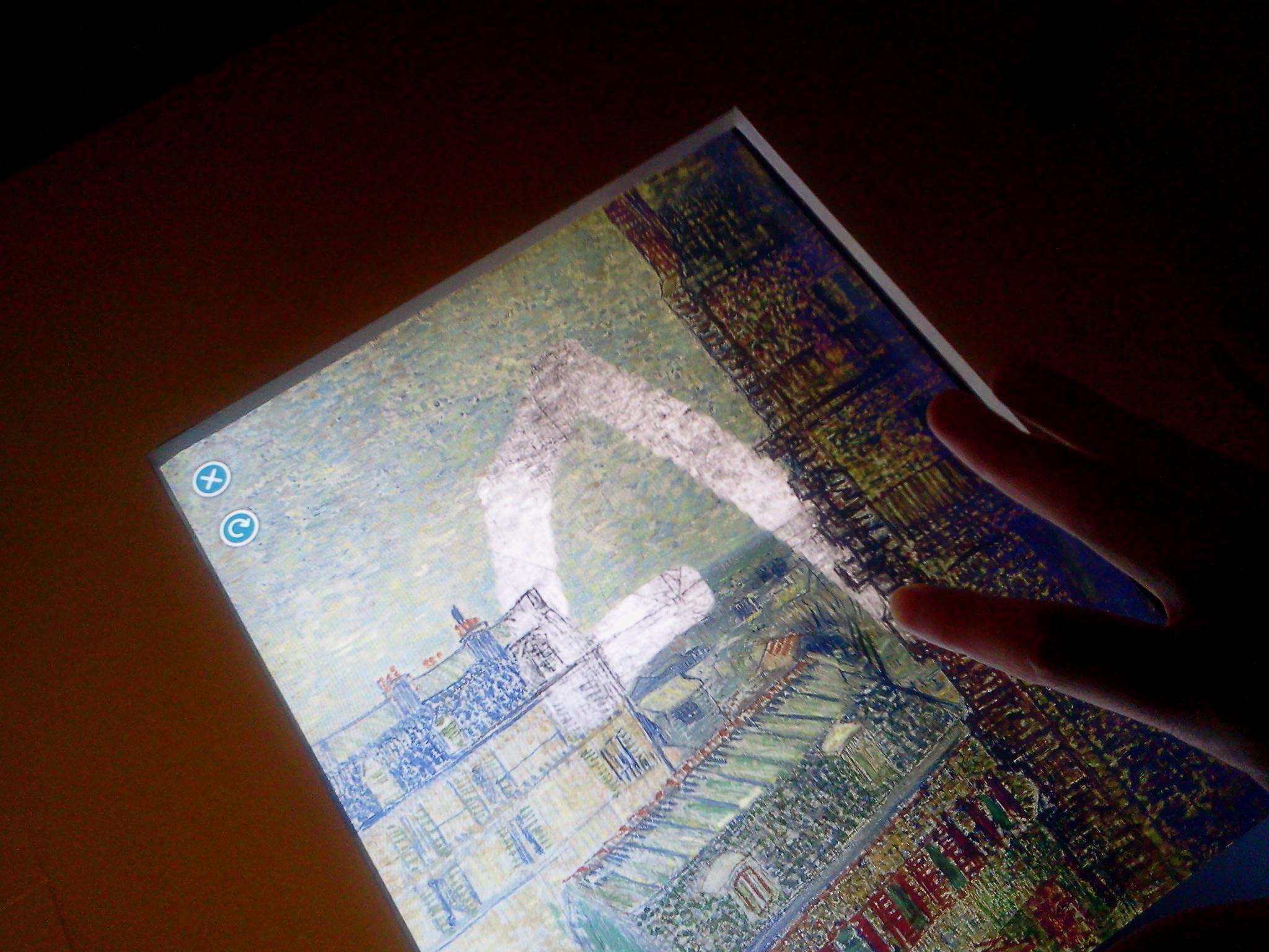 Pantalla interactiva en el Museo Van Gogh. Ámsterdam.