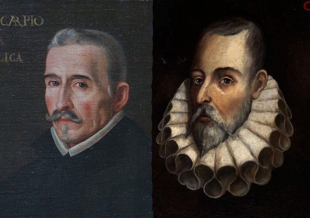 Retrato de Lope de Vega y Miguel de Cervantes