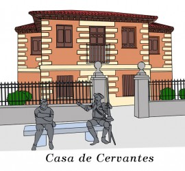 Casa Natal de Cervantes. Ilustración de Neko Naku / Berta Delgado