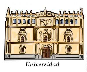 Universidad de Alcalá de Henares (Madrid). Ilustración de Neko Naku / Berta Delgado