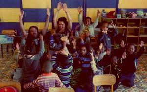 Voluntariado con niños pequeños